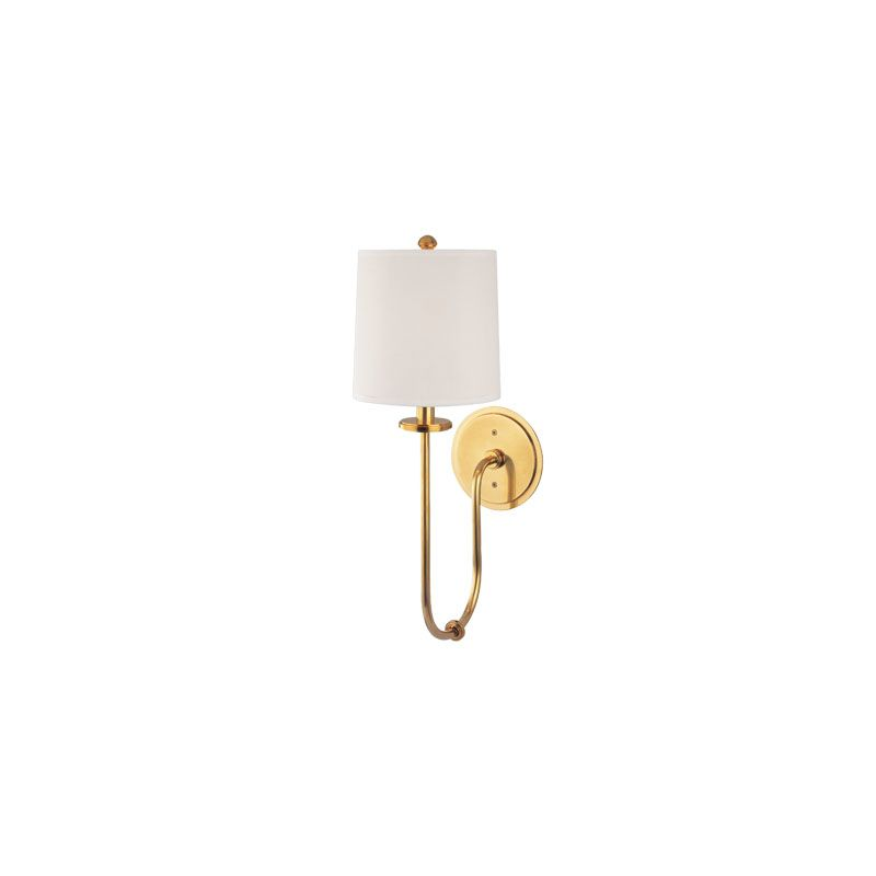 Hudson Valley Lighting 511 Jericho 1 Light Wall Sconce Aged Brass