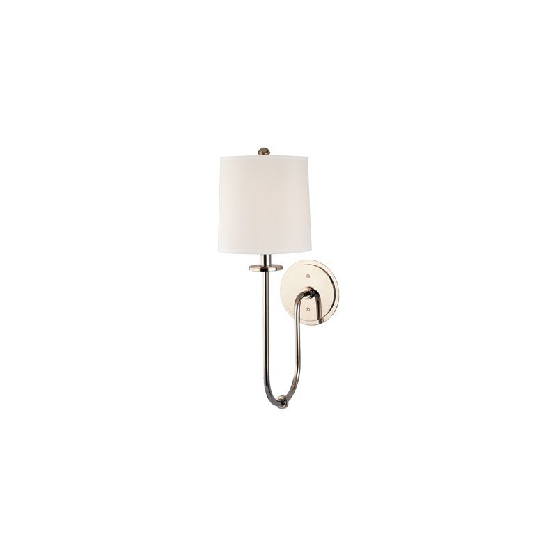 Hudson Valley Lighting 511 Jericho 1 Light Wall Sconce Polished Nickel