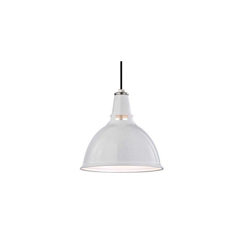 Hudson Valley Lighting 6816 Lydney 1 Light Pendant White Polished