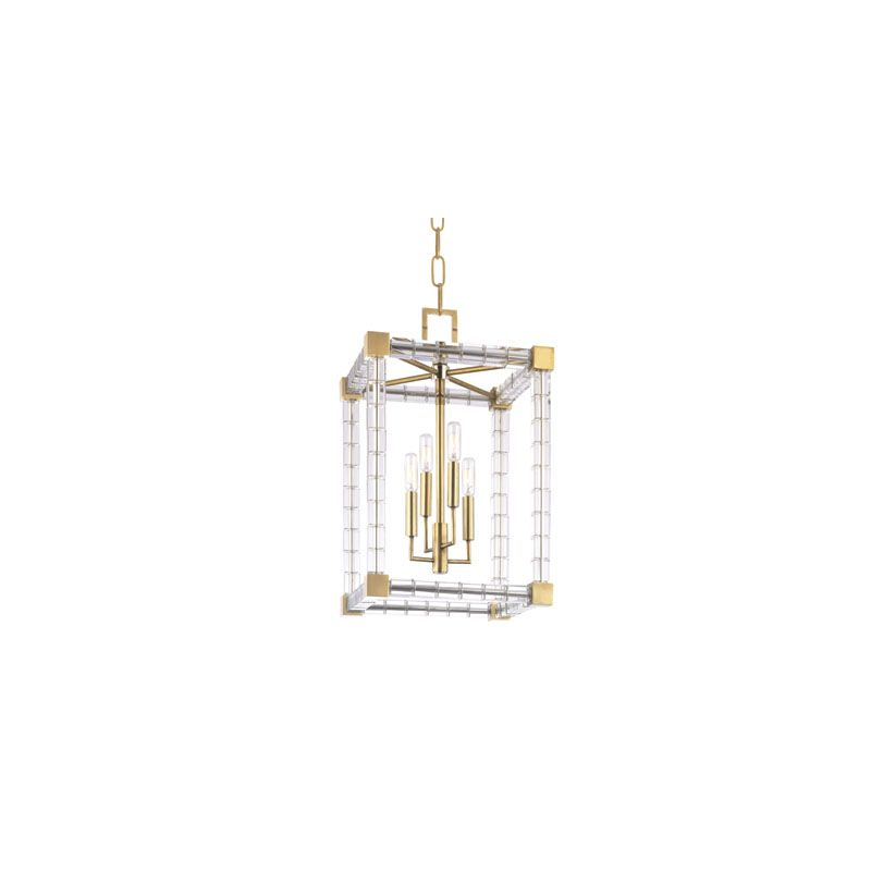 Hudson Valley Lighting 7118 Alpine 6 Light Chandelier Aged Brass