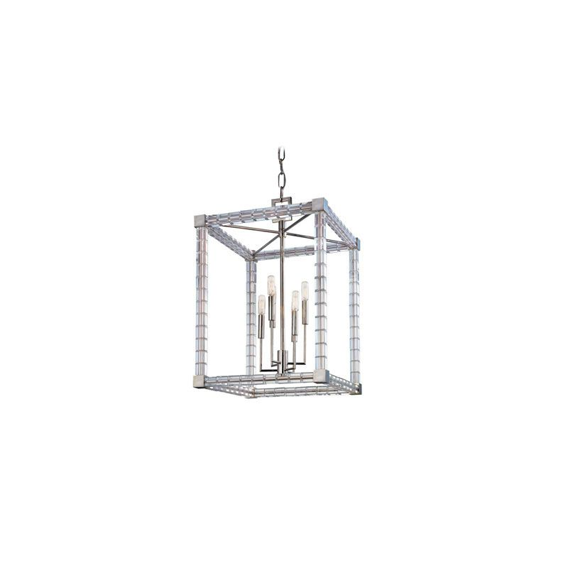 Hudson Valley Lighting 7118 Alpine 6 Light Chandelier Polished Nickel