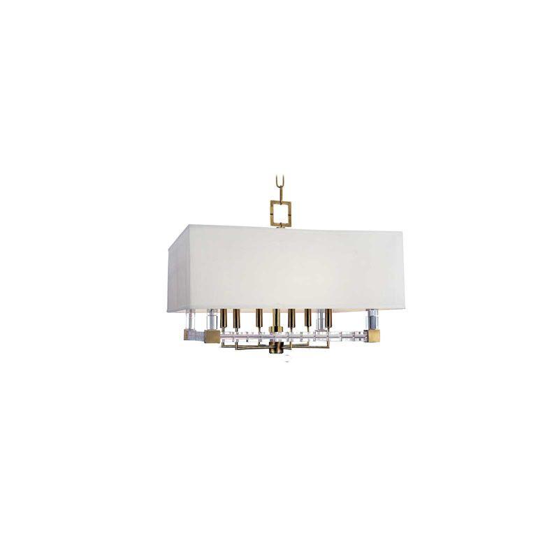 Hudson Valley Lighting 7126 Alpine 6 Light Chandelier Aged Brass
