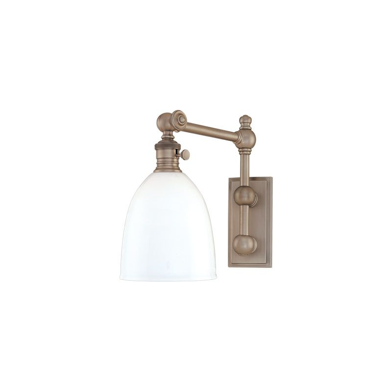 Hudson Valley Lighting 762 Roslyn 1 Light Swing Arm Wall Sconce Old