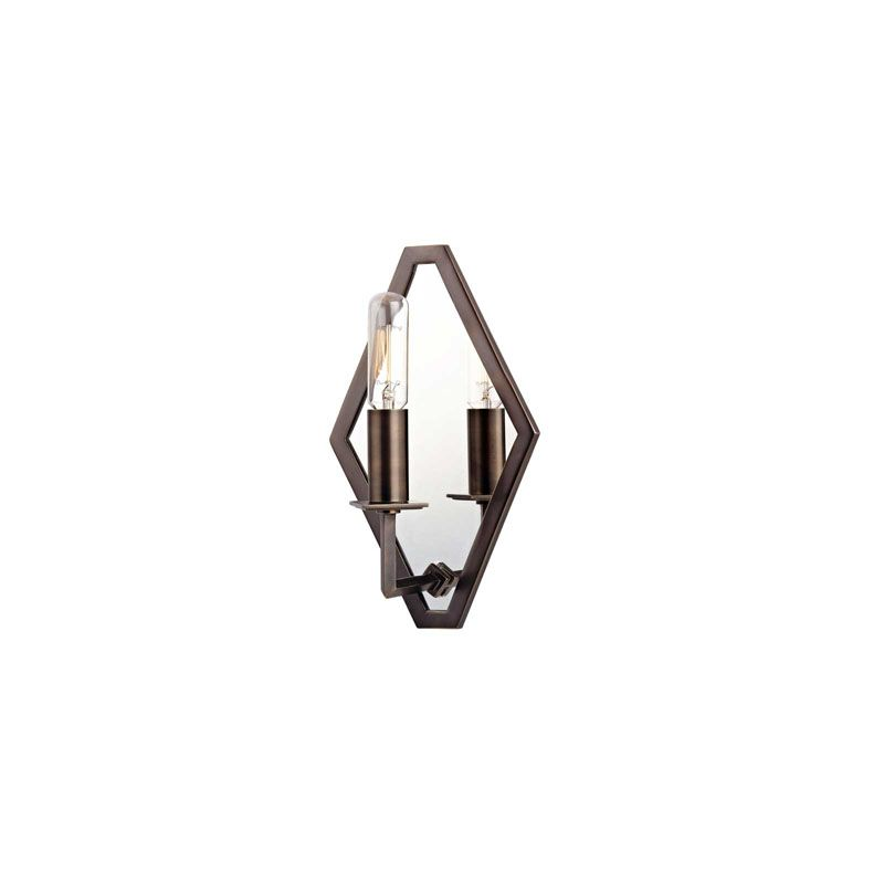 Hudson Valley Lighting 810 Alford 1 Light Mirrored Wall Sconce