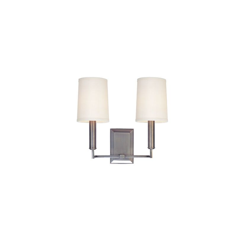 Hudson Valley Lighting 812 Clinton 2 Light Wall Sconce Polished Nickel