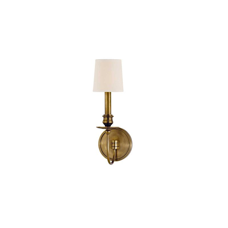 Hudson Valley Lighting 8211 Cohasset 1 Light Cast Brass Wall Sconce Sale $236.00 ITEM#: 2063388 MODEL# :8211-AGB UPC#: 806134138875 :