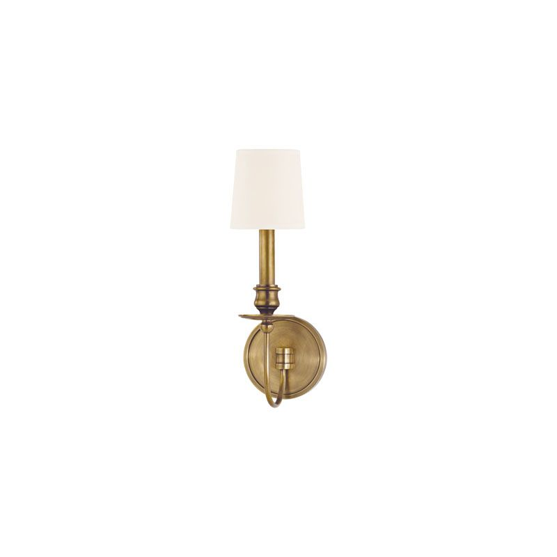 Hudson Valley Lighting 8211 Cohasset 1 Light Cast Brass Wall Sconce Sale $236.00 ITEM#: 2063389 MODEL# :8211-AGB-WS UPC#: 806134147075 :