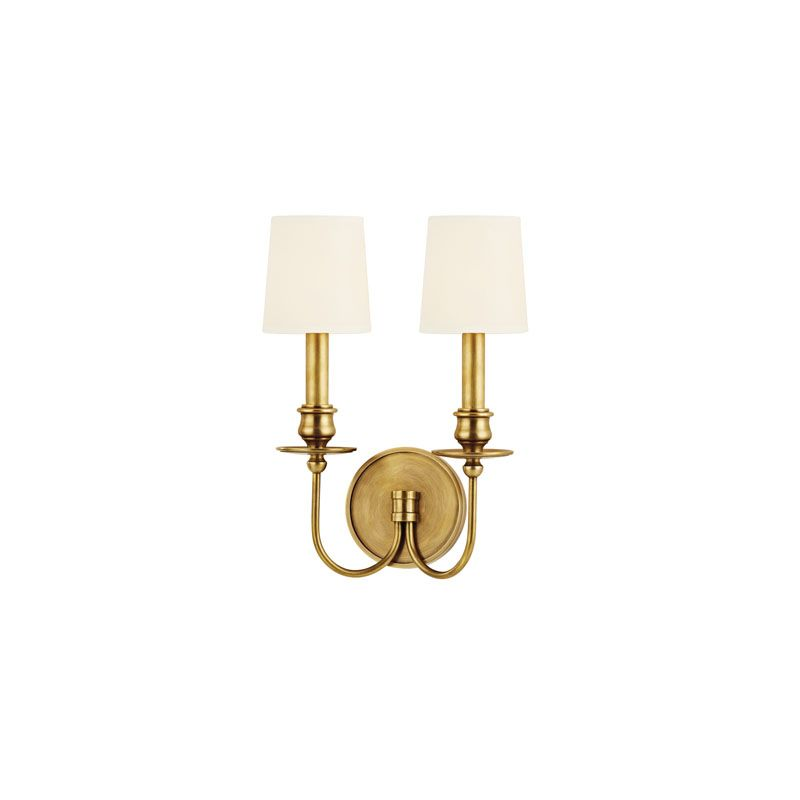 Hudson Valley Lighting 8212 Cohasset 2 Light Wall Sconce Aged Brass /