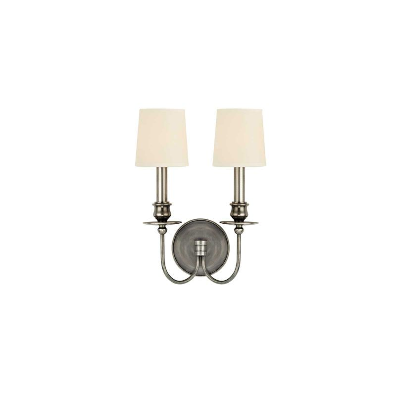 Hudson Valley Lighting 8212 Cohasset 2 Light Wall Sconce Aged Silver