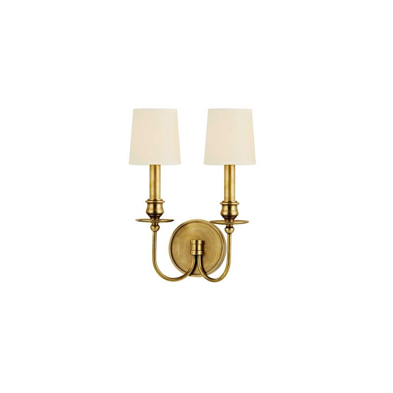 Hudson Valley Lighting 8212 Cohasset 2 Light Wall Sconce Polished