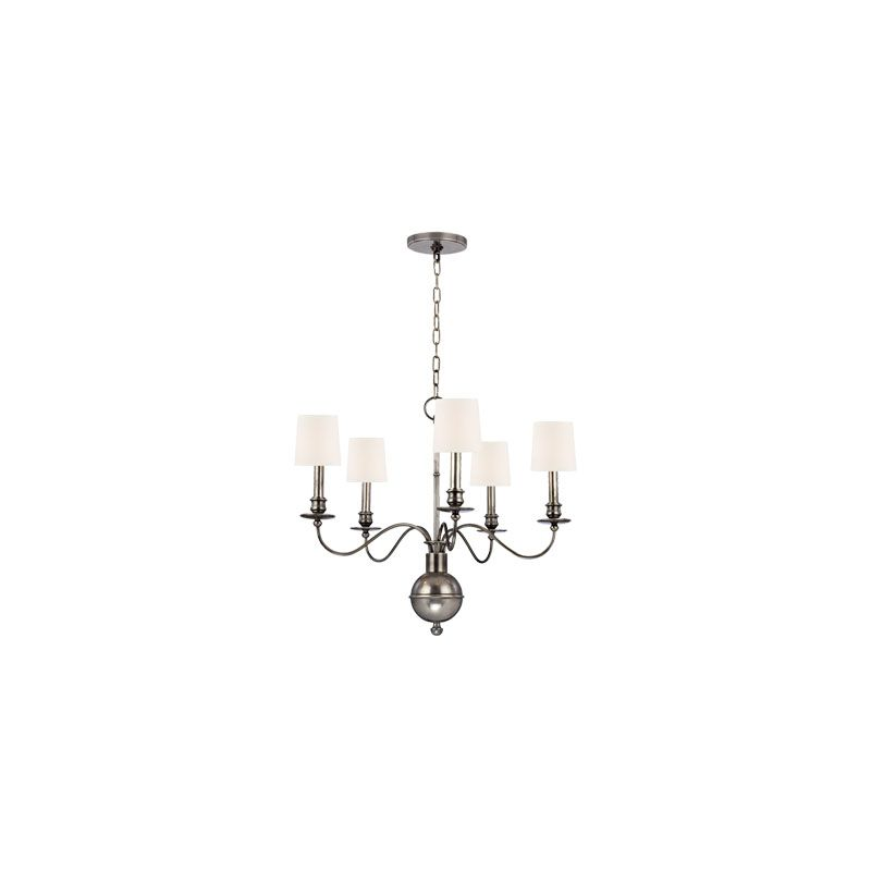 Hudson Valley Lighting 8215 Cohasset 5 Light Chandelier Aged Silver / Sale $910.00 ITEM#: 2063407 MODEL# :8215-AS-WS UPC#: 806134147228 :