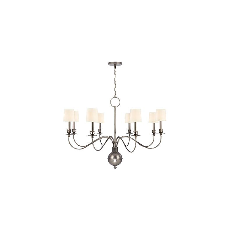Hudson Valley Lighting 8218 Cohasset 8 Light Chandelier Aged Silver / Sale $1598.00 ITEM#: 2063419 MODEL# :8218-AS-WS UPC#: 806134147198 :