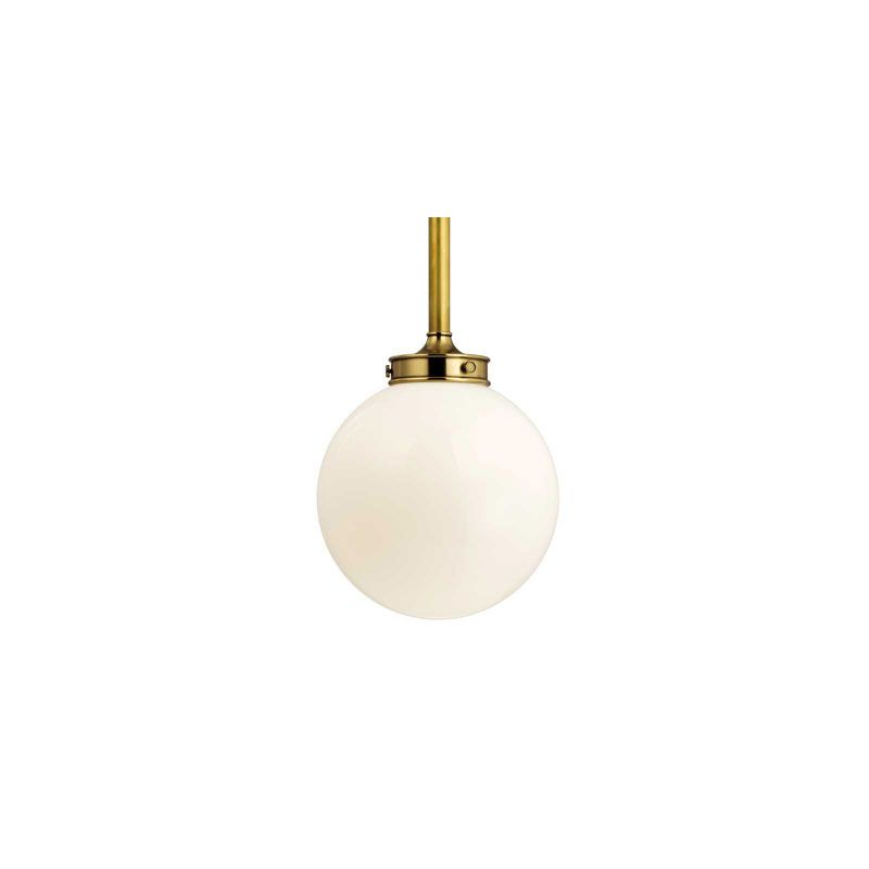 Hudson Valley Lighting 8817 Concord 1 Light Pendant Aged Brass Indoor