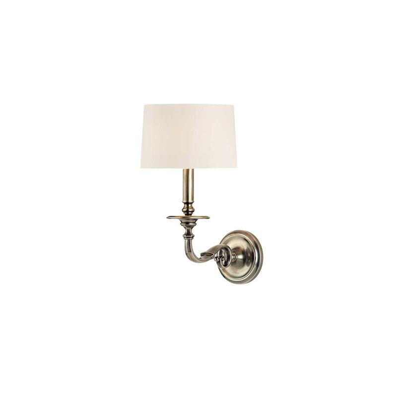 Hudson Valley Lighting 910 Whitmire 1 Light Wall Sconce Aged Silver
