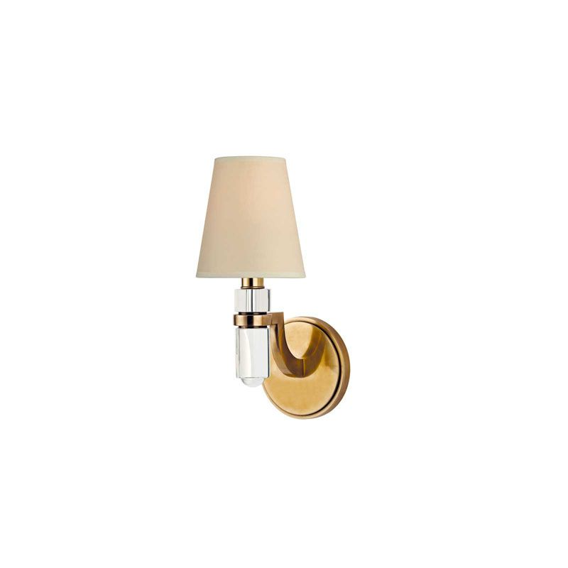 Hudson Valley Lighting 981 Dayton 1 Light Wall Sconce Aged Brass