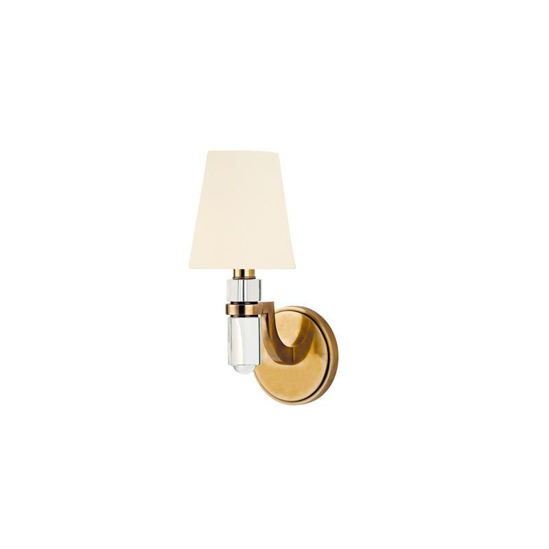 Hudson Valley Lighting 981 Dayton 1 Light Wall Sconce Aged Brass /