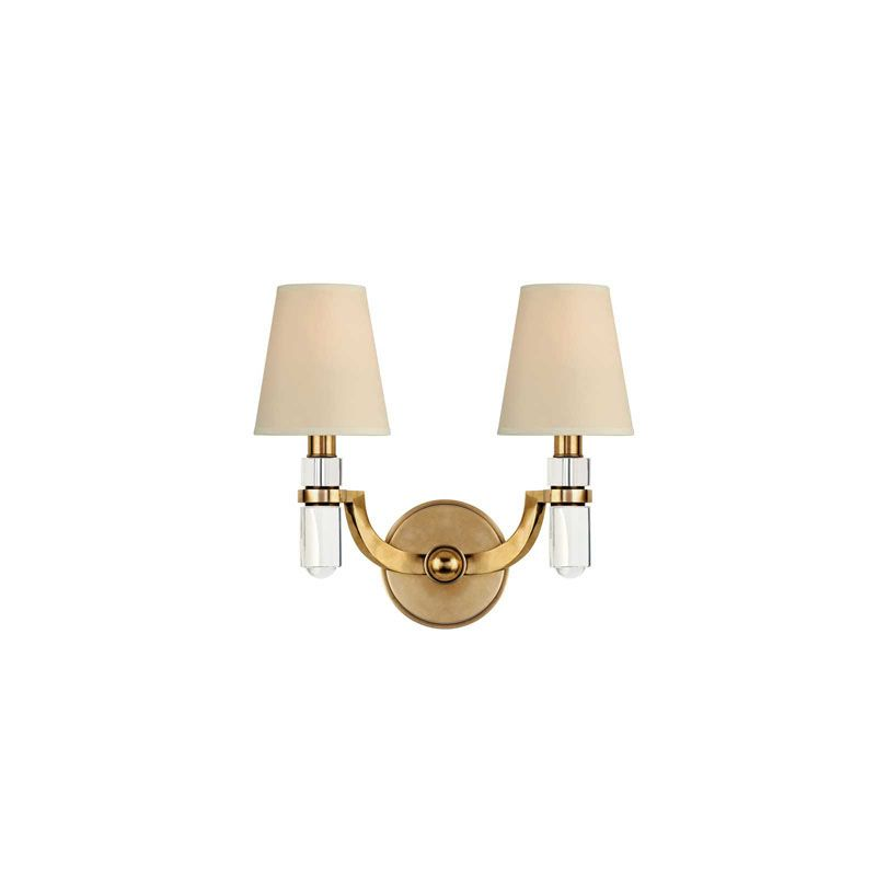 Hudson Valley Lighting 982 Dayton 2 Light Wall Sconce Aged Brass