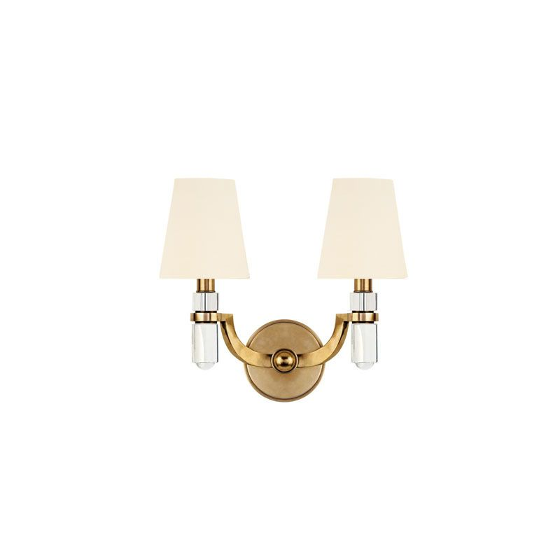 Hudson Valley Lighting 982 Dayton 2 Light Wall Sconce Aged Brass /