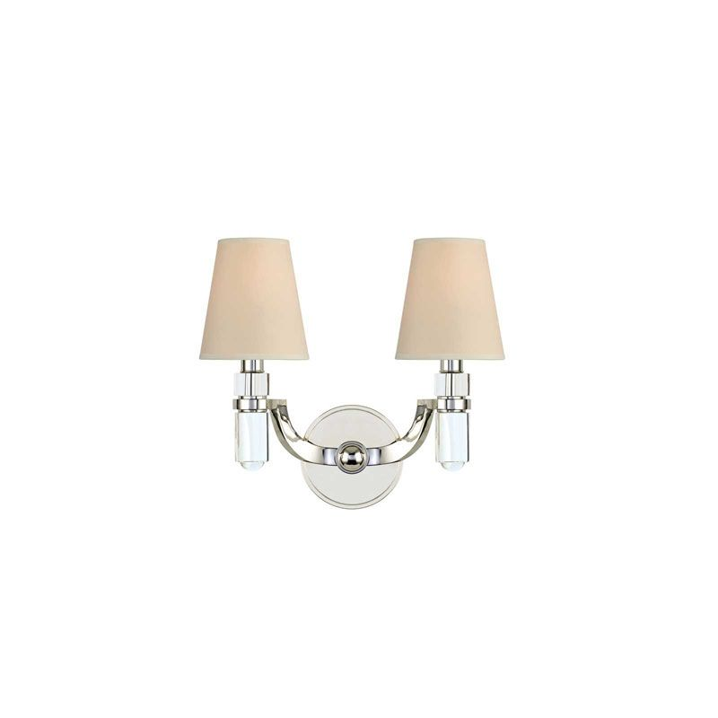Hudson Valley Lighting 982 Dayton 2 Light Wall Sconce Polished Nickel
