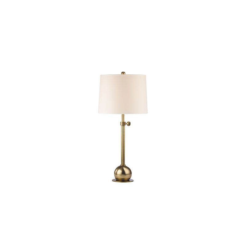 Hudson Valley Lighting L114 Marshall 1 Light Table Lamp Vintage Brass Sale $299.00 ITEM#: 2063536 MODEL# :L114-VB-WS UPC#: 806134147273 :