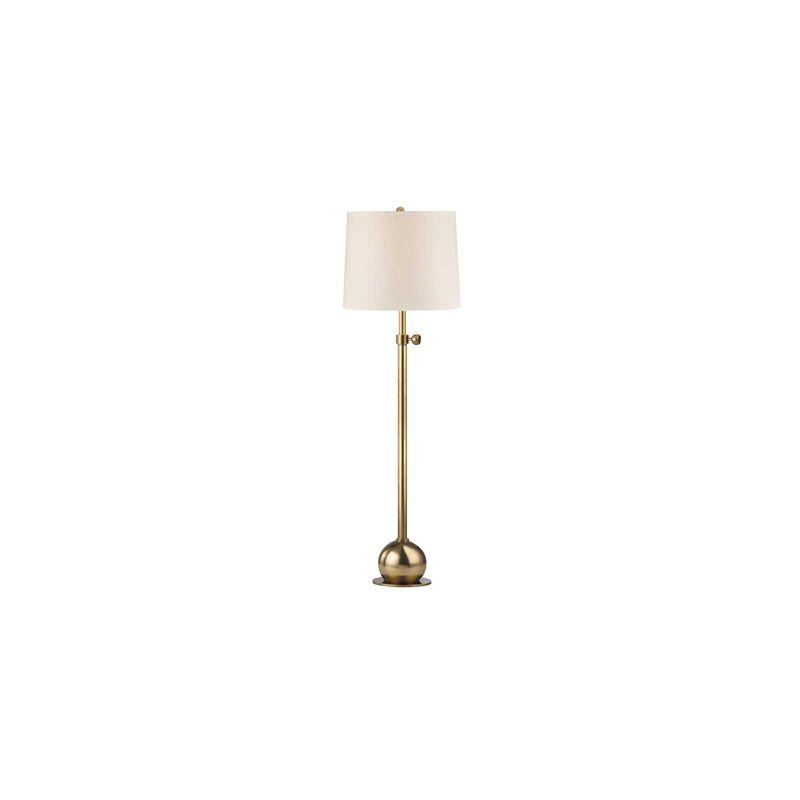 Hudson Valley Lighting L116 Marshall 1 Light Floor Lamp Vintage Brass
