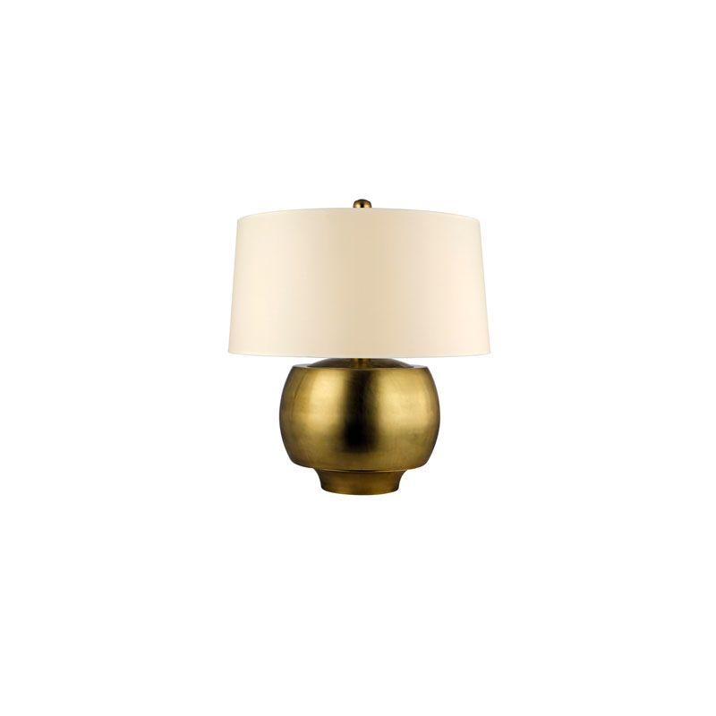 Hudson Valley Lighting L162 Holden 1 Light Table Lamp Aged Brass /