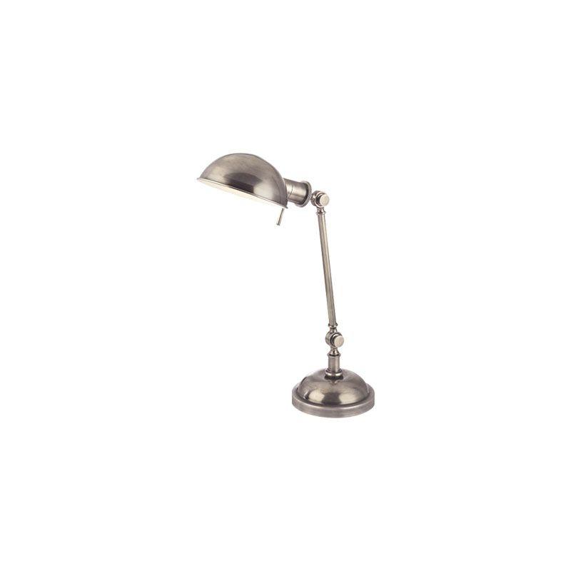 Hudson Valley Lighting L433 Girard 1 Light Desk Lamp Aged Silver Lamps
