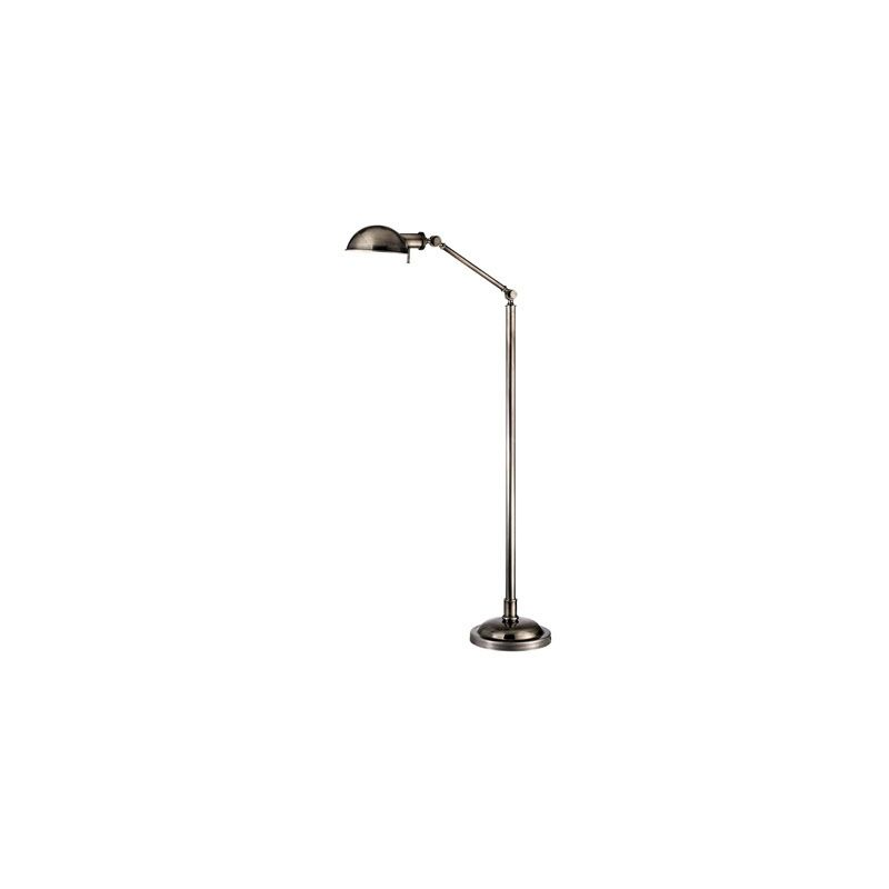 Hudson Valley Lighting L435 Girard 1 Light Floor Lamp Aged Silver