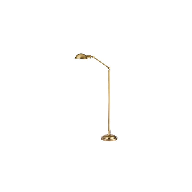 Hudson Valley Lighting L435 Girard 1 Light Floor Lamp Vintage Brass
