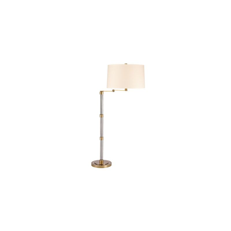 Hudson Valley Lighting L526 Lindale 1 Light Floor Lamp Vintage Brass /