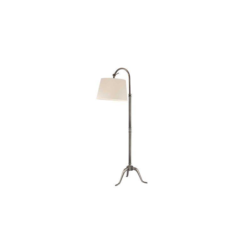 Hudson Valley Lighting L605 Burton 1 Light Floor Lamp Aged Silver /