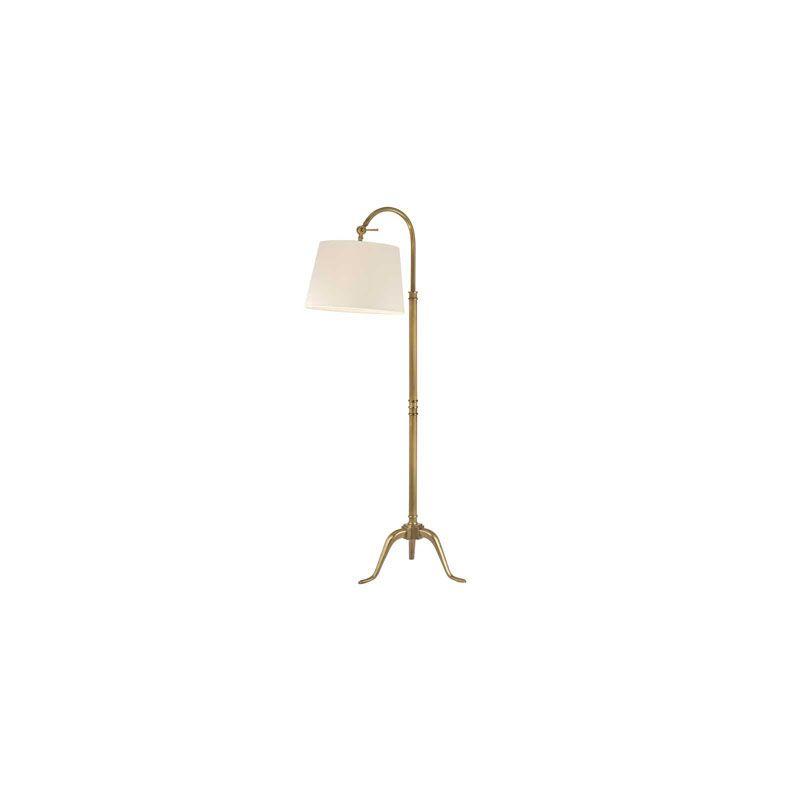 Hudson Valley Lighting L605 Burton 1 Light Floor Lamp Vintage Brass