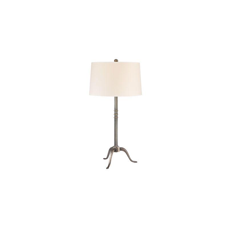 Hudson Valley Lighting L814 Burton 1 Light Table Lamp Aged Silver
