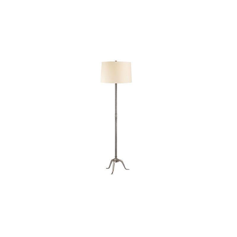 Hudson Valley Lighting L816 Burton 1 Light Floor Lamp Aged Silver