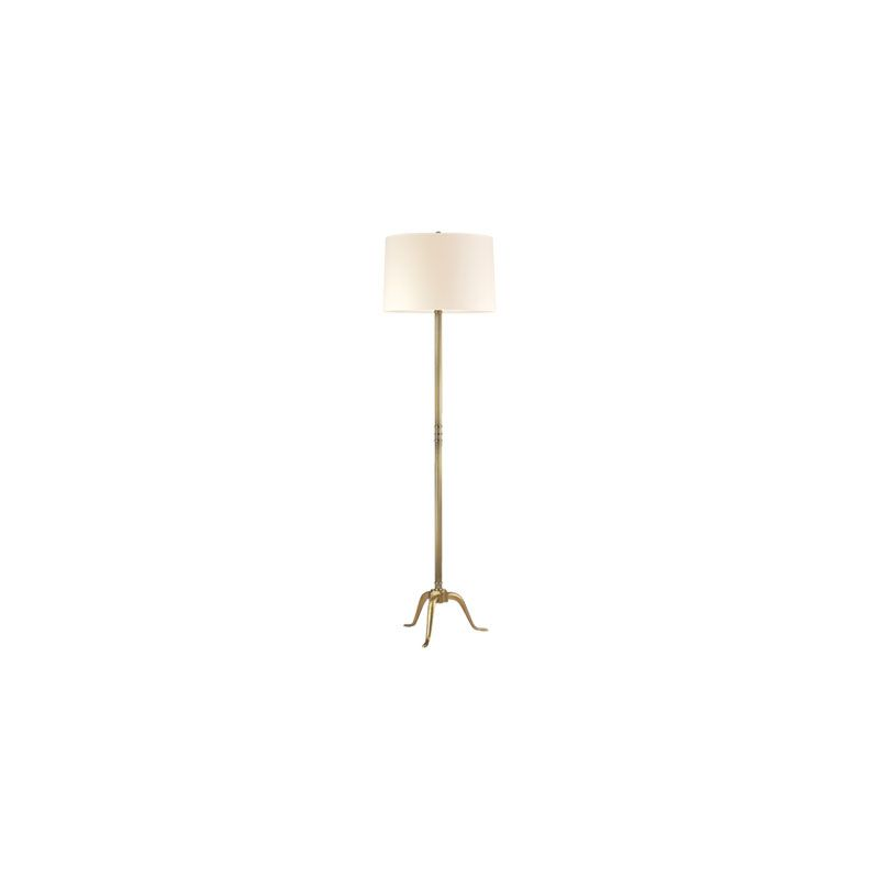 Hudson Valley Lighting L816 Burton 1 Light Floor Lamp Vintage Brass