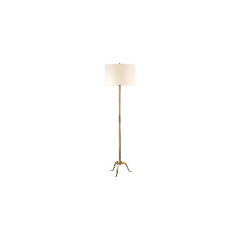 Hudson Valley Lighting L816 Burton 1 Light Floor Lamp Vintage Brass /