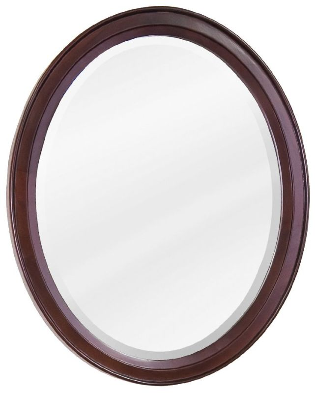 Jeffrey Alexander MIR067 Mahogany Collection Oval 22 x 27-1/4 Inch
