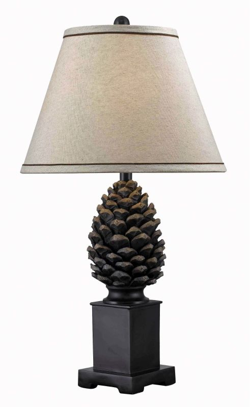 Kenroy Home 32114ABZ Aged Bronze Pine Cone Country / Rustic Single Light Table Lamp from the Pine Cone Collection