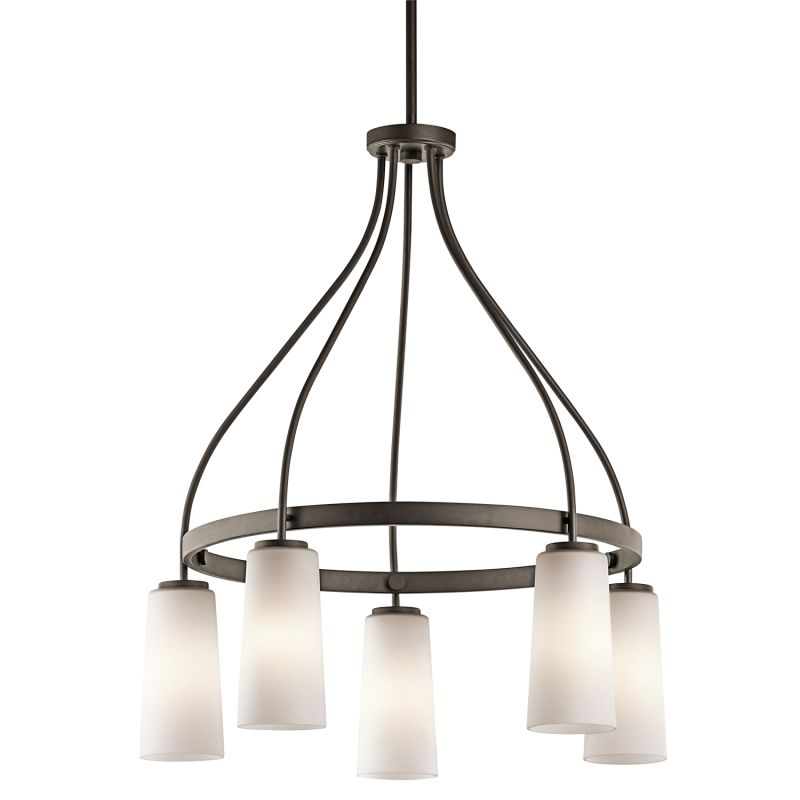 Kichler 42977 Whitley Single-Tier Chandelier with 5 Lights - Stem
