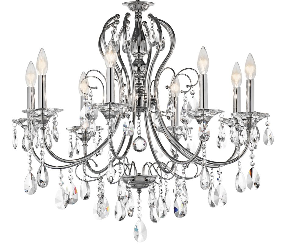 "Kichler 43122 Jules Single-Tier Chandelier with 8 Lights - 72"" Chain"