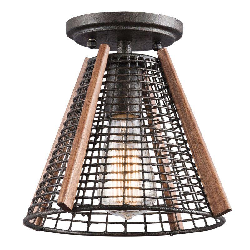 Kichler 43351 Calleis 1-Bulb Indoor Mini Pendant Rust Indoor Lighting