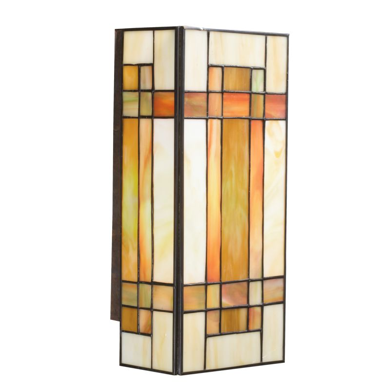 Kichler 69004 Stained Glass / Tiffany Two Light Wall Sconce with Art
