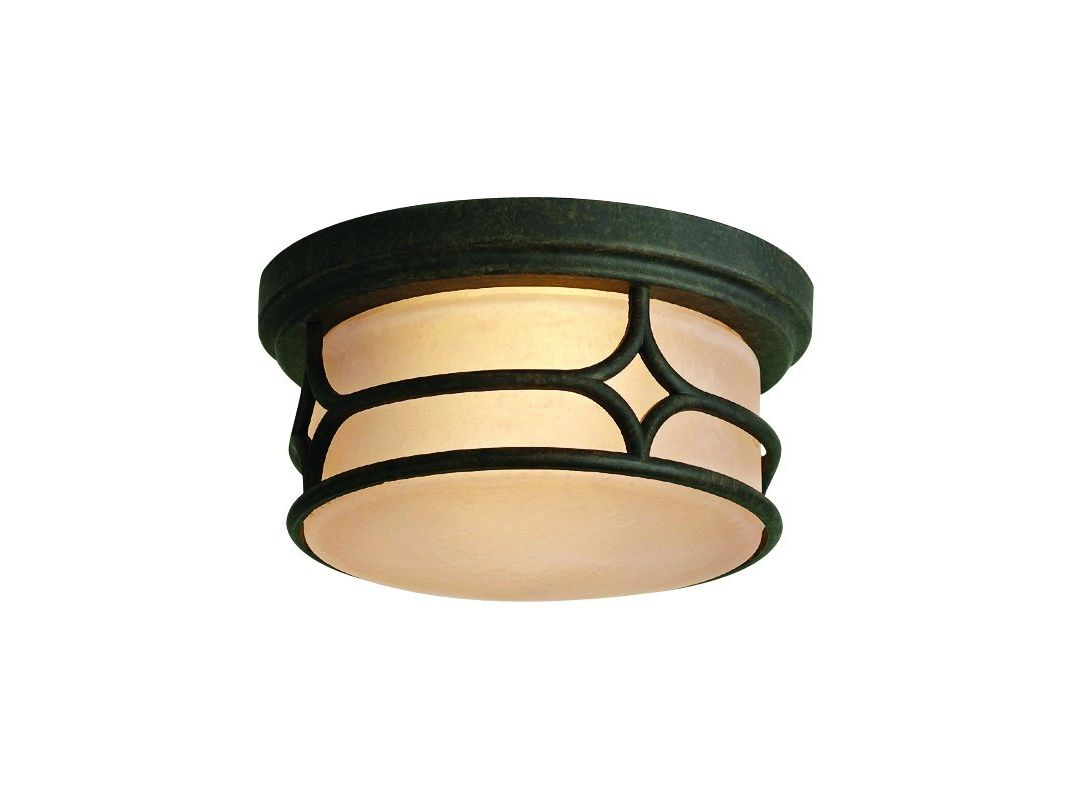 Kichler 9867 2 Light Outdoor Ceiling Fixture from the Chicago