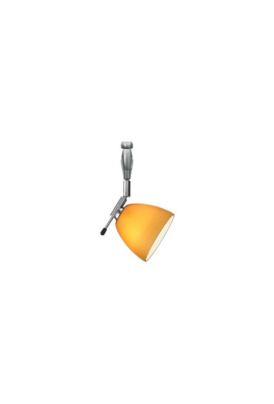 LBL Lighting HB275AM Amber Contemporary / Modern Single Light 360- Swivel Dome-Shaped Track Head for Single-Canopy Mounting or Track Lighting Systems