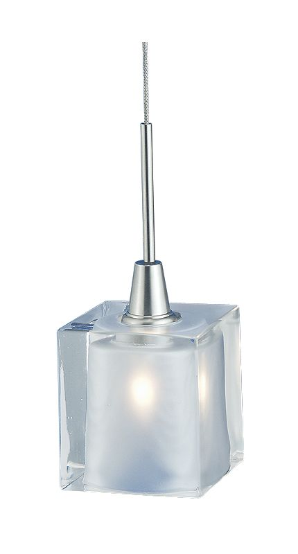 LBL Lighting HS261CR Single Light Monopoint Rocks Pendant with Clear