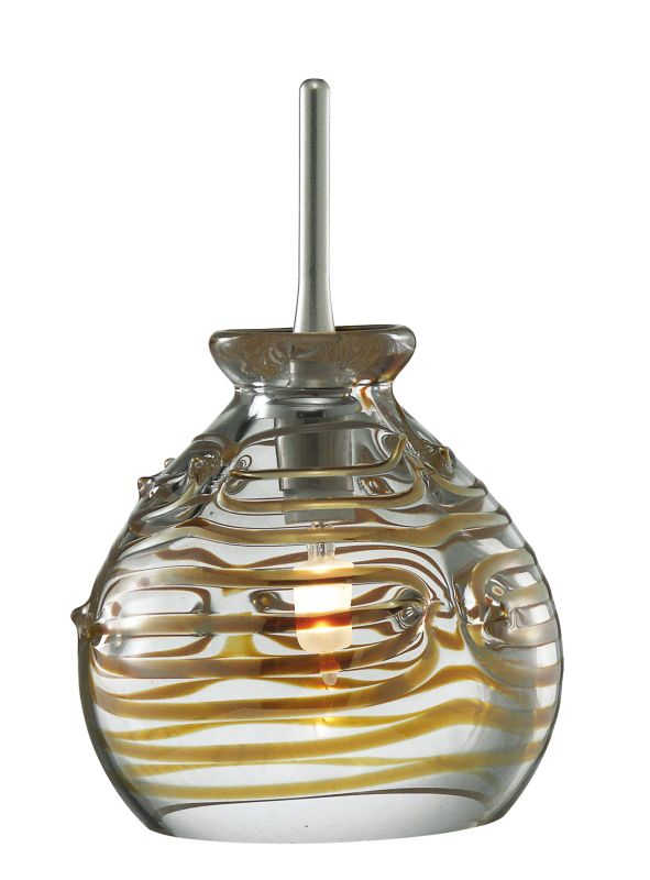 LBL Lighting Gelato Single Light Sphere-Shaped Mini Pendant for