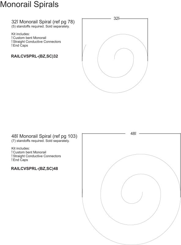 LBL Lighting Monorail Spiral Track Single Spiral Monorail Track Satin