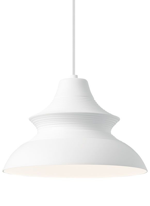 "LBL Lighting LP8932D Togan Single Light 12"" Wide Pendant White Indoor"