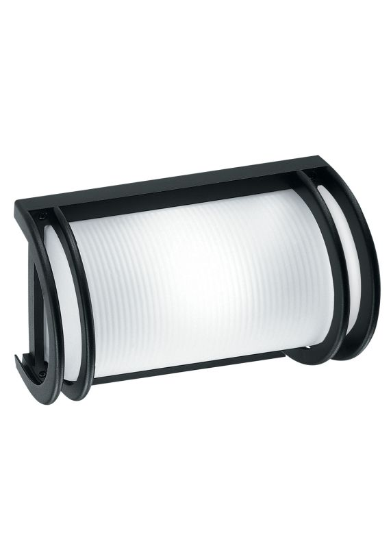 LBL Lighting Nikko 13W 1 Light Outdoor Small Wall Light Black Outdoor