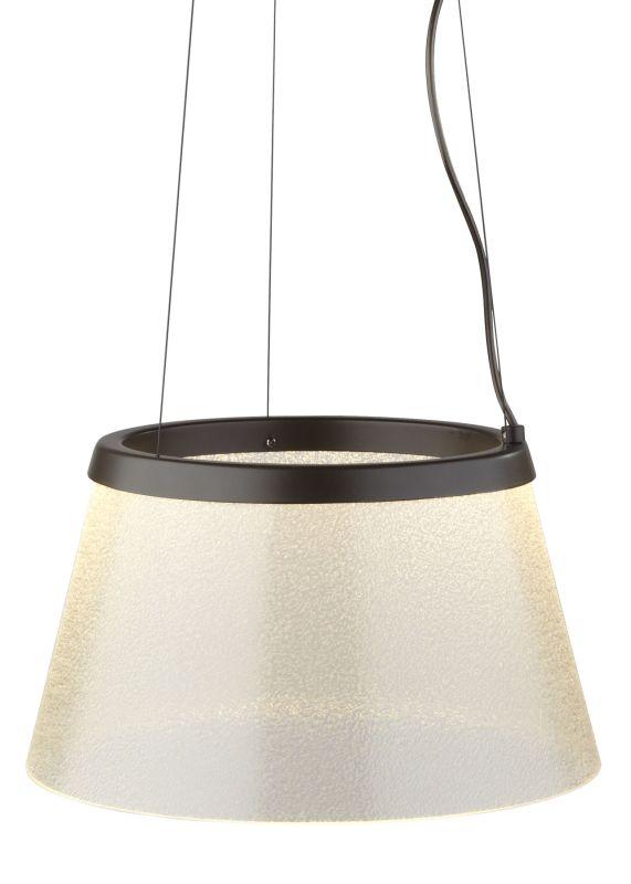 LBL Lighting Duke Fizz LED Suspension Light Satin Nickel Indoor